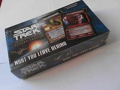 Star Trek ccg What you leave behind WYLB sealed booster box