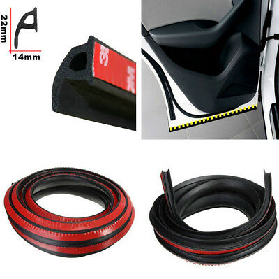 4M P-type Waterproof Soundproof Black Rubber Seal Strip for Car SUV Door Trunk