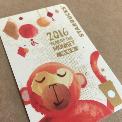 "Starbucks China ""YEAR OF THE MONKEY 2016"" MSR Card- New No Value"