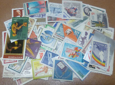 RUSSIA STAMP COLLECTION PACKET of 100 DIFFERENT Stamps  MINT NEVER HINGED