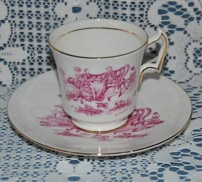 """Beautiful Vintage Royal Chelsea """"Tea Party"""" Fine Bone China, Tea Cup And Saucer"""