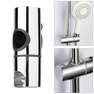 Replacement 25mm ABS Chrome Shower Rail Head Slider Holder Adjustable Bracket CO