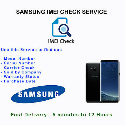 Samsung Info IMEI Check Service - Manufacturer Warranty Sold by Carrier Network