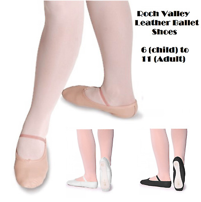 Roch Valley Girls/Ladies Leather Ballet Shoes 6C-11A