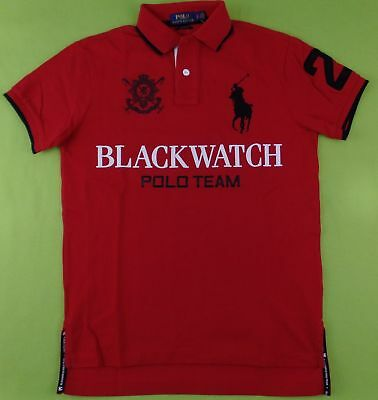 257820b99a5 Polo Ralph Lauren Men's BLACKWATCH Polo Shirt Big Pony Logo