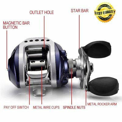 10+1BB Bait Casting Fishing Reel G-Ratio 6.3:1 Baitcasting Fishing Reel AG