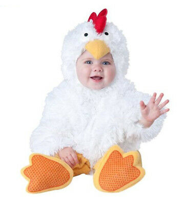 Animal Birthday Fancy Dress Costume Baby Girl Boy Chicken White Suit Outfit Gift