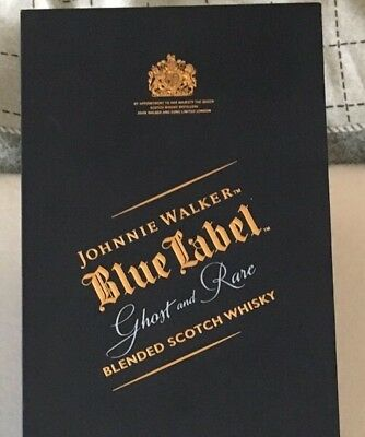 Johnnie Walker Ghost And Rare Empty Bottle And Box