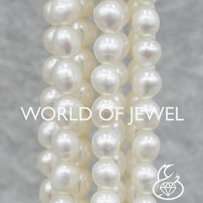 World of Jewel Perle Di Fiume Riso 6,5-7,0mm Bianco