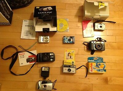 Lot Of 6 cameras and 1 disposable cameras