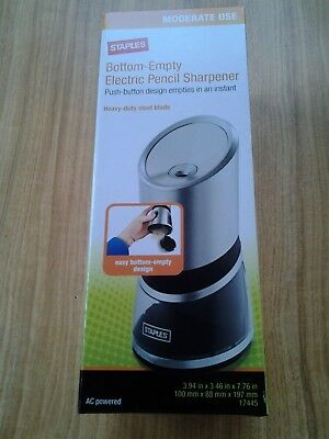 Staples Bottom-Empty Electric Pencil Sharpener #17445 New In Box Free Shipping