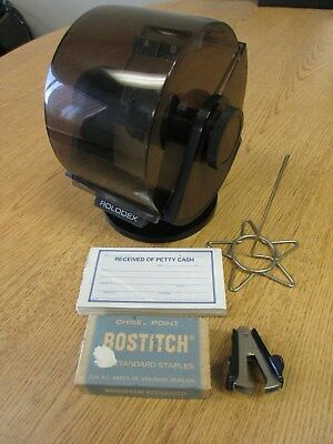 Mixed Lot - Rolodex Organizer-Staples-Staple Remover-Petty Cash Pad-Letter Spike