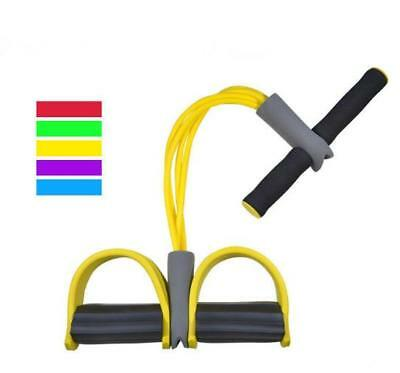 4-Tube Foot Pedal Pull Rope Resistance Exercise Sit-up Fitness Yoga Equipment