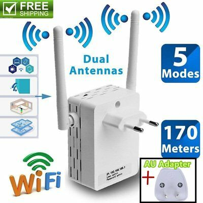 Dual Antenna 300Mbps Wifi Repeater Wireless Range Extender 802.11N Booster Lot C