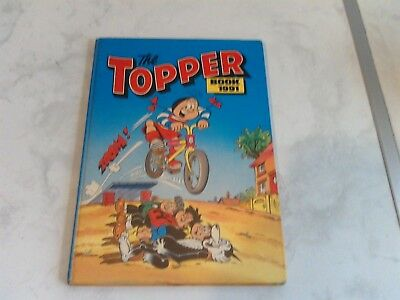 TOPPER BOOK 1991 unclipped some writing beano dandy beezer desperate dan korky