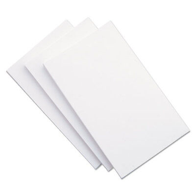5x8 Blank Unruled White Index Cards - pack of 100 NEW Factory Sealed