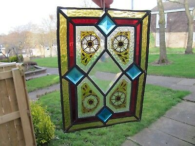Vintage or Antique Stained Glass & Painted Lead Window