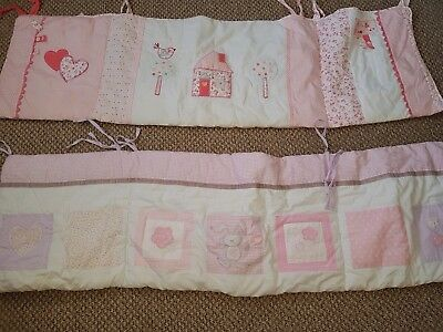 Breathable Baby two sided cot mesh liner padded bumper for cot 120x60 two pieces