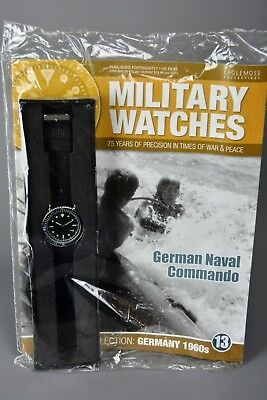 R&L Mag: Sealed Eaglemoss Military Watches 13 German naval Commando 1960s