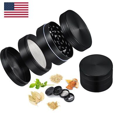 Tobacco Crusher Chromium 2 Inch 4 Pieces Tobacco Spice Herb Grinder US SHIP