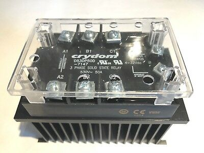 CRYDOM D53DP50D 3 phase solid state relay SSR 530V/50A - 4-32VDC With Heatsink N