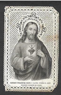 Sagrado Corazon De Jesus - Prayer to the Sacred Heart of Jesus paper lace card
