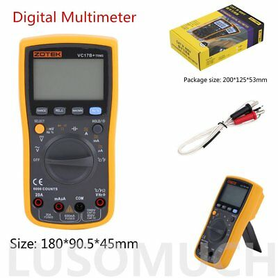 VC17B+ Automatic/Manual Digital Large LCD Screen Display AC DC Multimeter CO