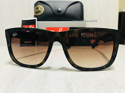 32ee18c139 RAY BAN RB4165 710 13 Tortoise frame Brown Gradient Lens 55mm Sunglasses