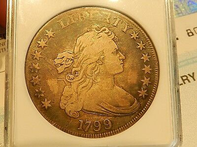1799 Draped Bust Dollar ANACS F12 *NO RESERVE*