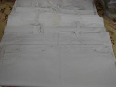 Job Lot of 5 Antique,Vintage White Bolstercases,Long Pillowcases~From Storage