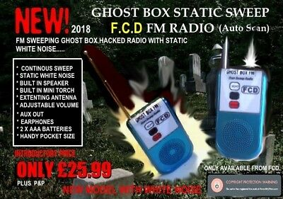 Ghost Box Static Sweep hacked FM Radio with Torch, franks box, spirit box