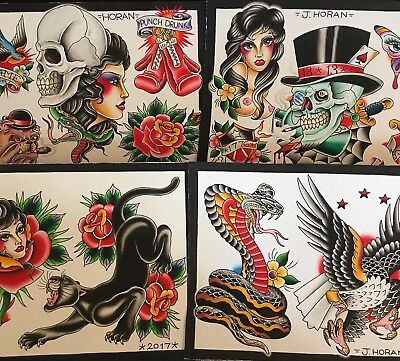 Tattoo Flash By Justin Horan