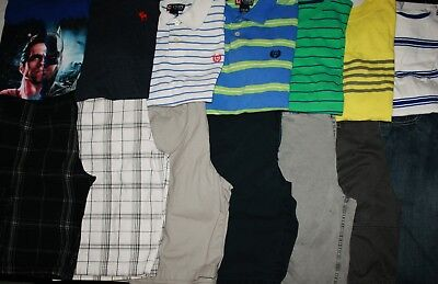 Boys Size 16 Spring/Summer Shorts & Shirts Clothing Lot Of 14 Pieces