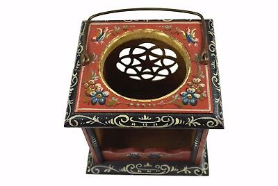 Vintage Carved and Painted Tea Warmer, Hindeloopen/ Frisian/ Dutch/ Netherlands.