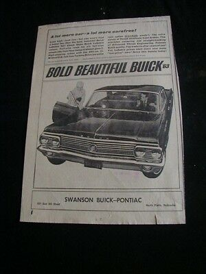 1962 buick LaSabre newspaper ad local dealer auto print ad