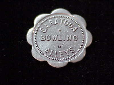 Saratoga, WY Saratoga Bowling Alleys, early Wyoming merchant trade token