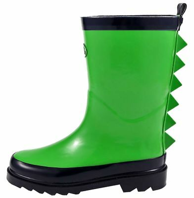 f04757e3c6 OUTEE TODDLER KIDS Boys Rain Boots Waterproof Shoes Yellow Shark ...
