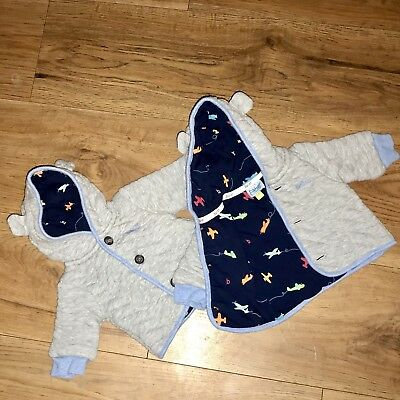 Ted Baker Matching Twin Boy Grey Coats Jackets Tiny Baby Pre-loved Free Post