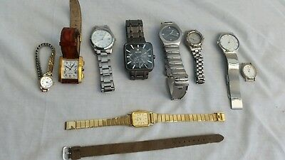 MIXED BULK OF  JOB LOT COLLECTION OF 9 GENTS and LADIES WRISTWATCHES