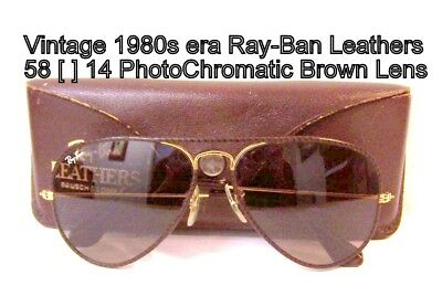 Vintage Bausch & Lomb Ray-Ban  PhotoChromatic 62 [ ] 14 Leathers aviators & Case