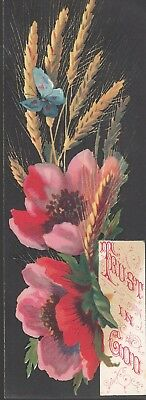 R&J Gilchrist Dry Goods Winter St.Boston Victorian Trade Card Butterfly Bookmark