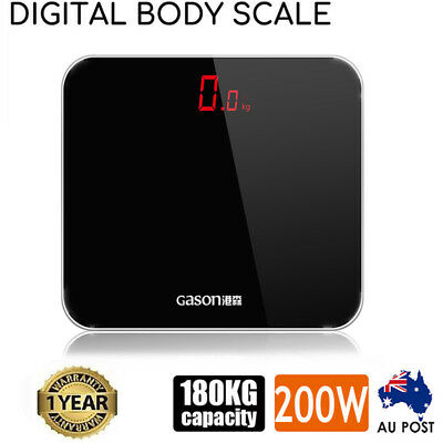 Electronic Digital LED Display Bathroom Scales Body Weight Management 180KG CO