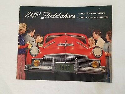 Vintage Original 1942 STUDEBAKERS BROCHURE The President and The Commander