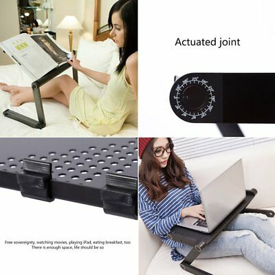Adjustable Multi-function Ergonomic Mobile Laptop Table Stand Bed PC Tray Lot CO