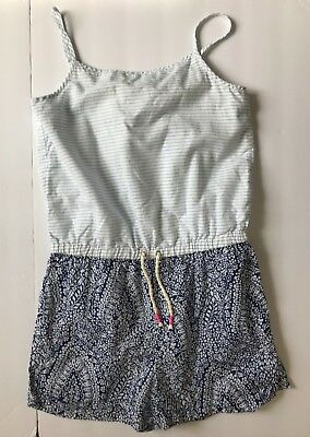 Crewcuts Kids Girls 10 Romper J. Crew Stripe & Print Mix Summer Outfit