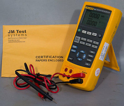 Fluke 724 Temperature Calibrator with Test Leads & NIST Calibration