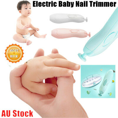AU Electric Baby Nail Trimmer Cordless Infant Nail Filer Nail Clippers CO