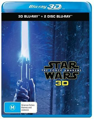 Star Wars - The Force Awakens (Blu-ray 3D + 2D, 2016 3-disc set) NEW & SEALED