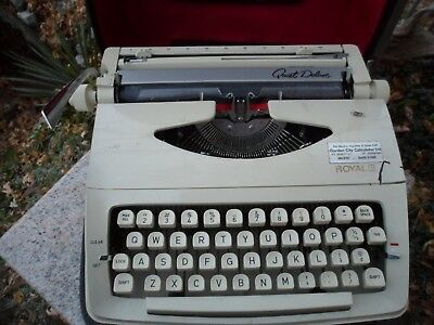 Vintage Royal Quiet Deluxe Portable Typewriter w/ Case Holland Netherlands