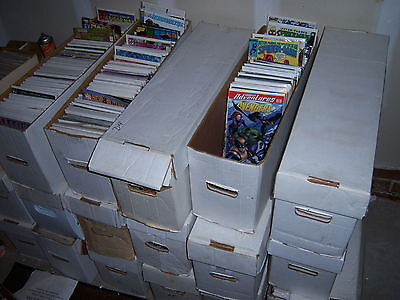 1 box Lot of 50 comics Marvel & DC NO duplication free shipping bagged & boarded
